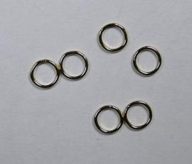 Gesloten jumpring, Gold Filled 5 mm, 2 stuks