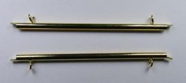 Miyuki Slide End Tubes 60 mm, goudkleur
