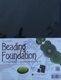 Beadsmith Beading Foundation, 4 vellen van  8,5x11 inch, zwart