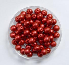 RounDuo Beads, 5 mm, Lava Red