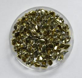 Gekko beads, 3x5 mm, Crystal Amber