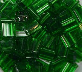 Miyuki Tila Beads, 5x5 mm , Green, kleurnummer 146