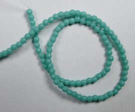 Round Beads , 2 mm, Czech Glass, Turquoise