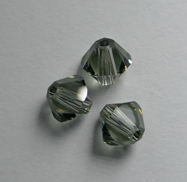 5 mm Black Diamond Swarovski Element Bicones