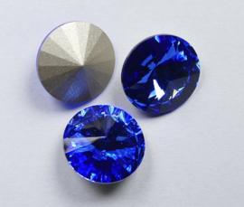 Rivoli, 14 mm, Preciosa, Sapphire