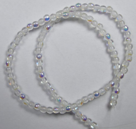 Round Beads , 2 mm, Czech Glass, Crystal AB