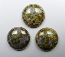 Czech Round Cabochon, 24 mm, Travertine