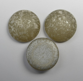 Czech Round Cabochon, 18 mm, Matte Backlit Vaporize