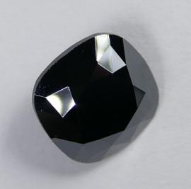 Vierkante steen, 12mm, Swarovski, Jet Hematite