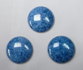 Czech Round Cabochon, 24 mm, Blue Turquoise Lumi