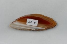 Agaatschijf, 77x29  mm, roodbruin