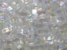 Miyuki Half Tila Beads, 5x2,3 mm , Crystal AB, kleurnummer 250