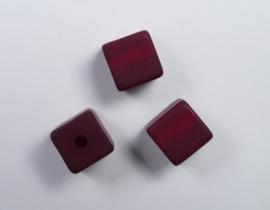 8 mm Polaris kubus kraal, bordeaux