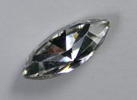 Navette, 15x7 mm, Swarovski, Crystal