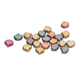 Matubo 2-Hole Ginko Bead Violet Rainbow