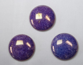 Czech Round Cabochon, 24 mm, Purple Lumi