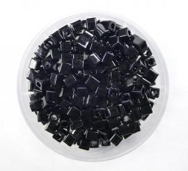 Miyuki Cubes, 3x3 mm, Opaque Black, kleurnummer 401