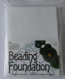 Beadsmith Beading Foundation, 4 vellen van 4,5x5 inch, wit