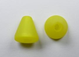 10 mm Polaris kegel kraal, geel
