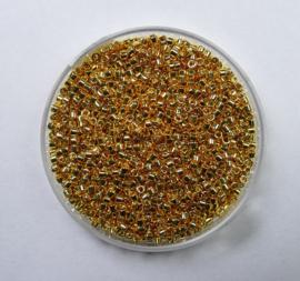 Miyuki Delica's, 11/0, 24 Karaat Gold Plated , kleurnummer 31