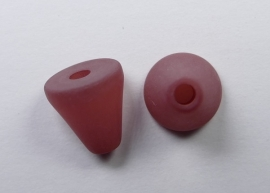 10 mm Polaris kegel kraal, terracotta