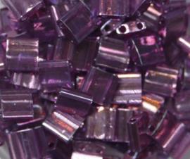 Miyuki Tila Beads, 5x5 mm , Light Amethyst Gold Luster, kleurnummer 316