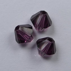5 mm Amethyst Swarovski Element Bicones