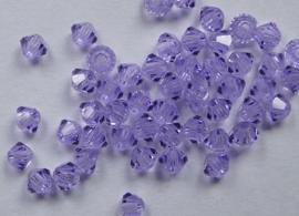 Bicones, 3 mm, Preciosa, Violet