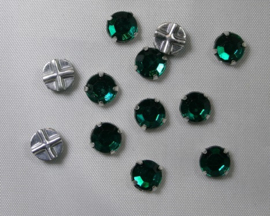 Rosemontees, 6,5 mm, Emerald, 6 stuks