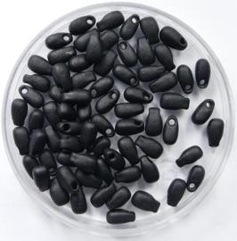 Miyuki Long Drops, 3x5,5 mm , Matte Black, kleurnummer 401F