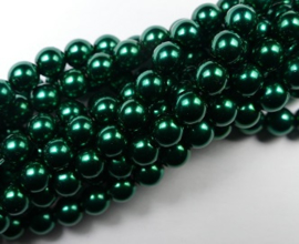 Czech glasparels, 6 mm, Deep Emerald