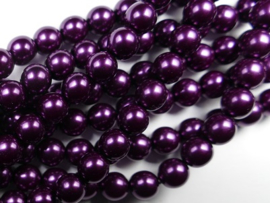 Czech glasparels, 8 mm, Purple