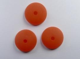 16 mm Polaris halfronde kraal, oranje