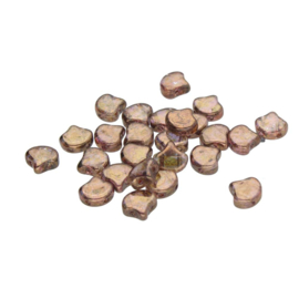 Matubo 2-Hole Ginko Bead Crystal Senegal Brown