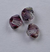 3 mm Crystal Lilac Shadow Swarovski Element Bicones