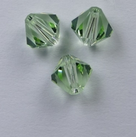 6 mm Chrysolite Swarovski Element Bicones
