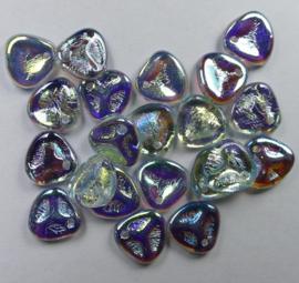 Rose Petals, 8x7 mm, Crystal Blue Rainbow