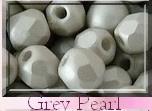 Czech Glass,  Firepolish, 3 mm Light Pastel Grey