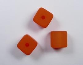 8 mm Polaris kubus kraal, oranje