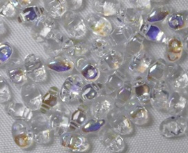 MiniDuo's,  2,5x4 mm, Matubo,  Crystal AB
