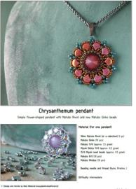 Gratis patroon: Ginko Chrysantemum Pendant
