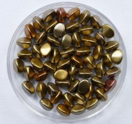 Czech Glass Pinch Bead, Metallic Mix