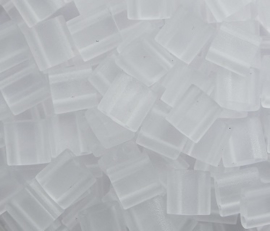 Miyuki Tila Beads, 5x5 mm , Crystal Matte, kleurnummer 131F