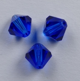 6 mm Blue Capri Swarovski Element Bicones