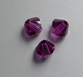 5 mm Fuchsia Swarovski Element Bicones