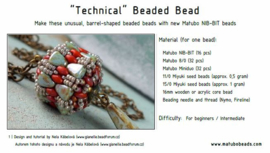 Gratis patroon: Technical Beaded Bead