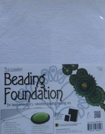 Beadsmith Beading Foundation, 4 vellen van 8,5x11 inch, wit