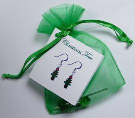 Leuke Swarovski kerstboom oorbel-kit