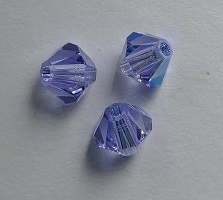 4 mm Alexandrite AB Swarovski Element Bicones