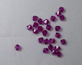 Bicones, 4 mm, Preciosa, Fuchsia